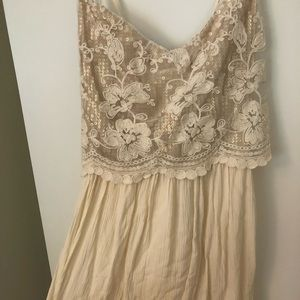Hollister off white lace dress